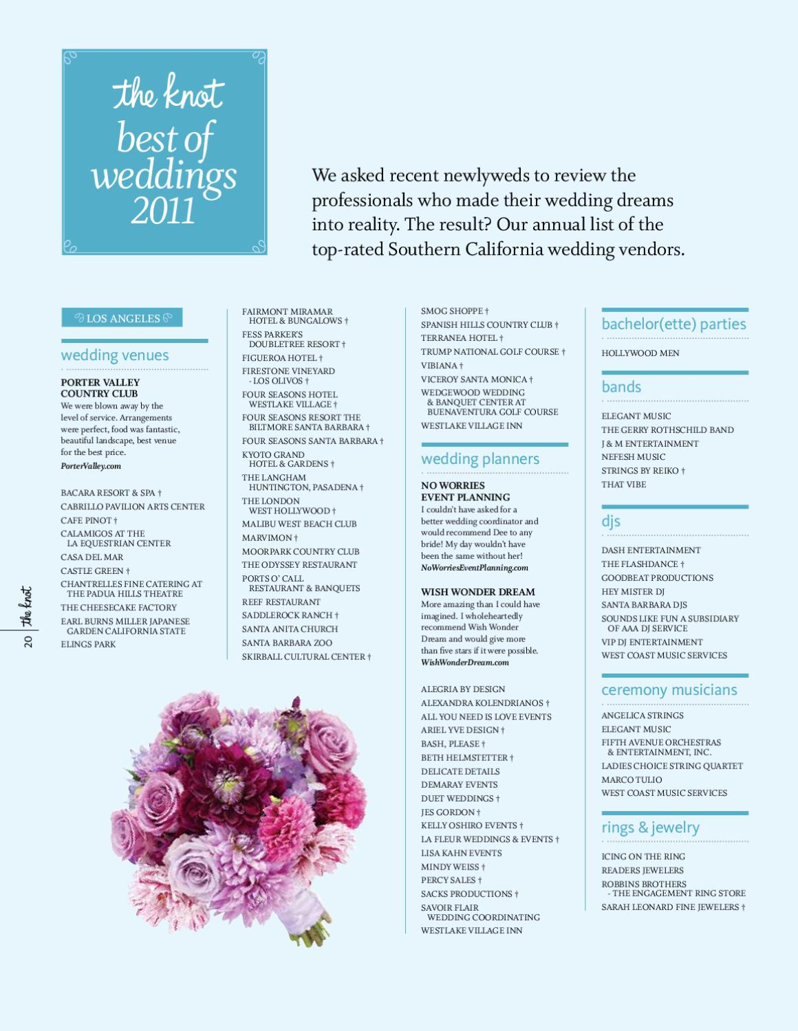 The Knot Southern California Magazine By Artistry By