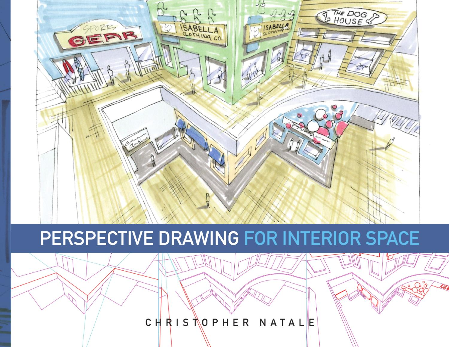 Interior Design Study Materials Perspective Drawing For Space