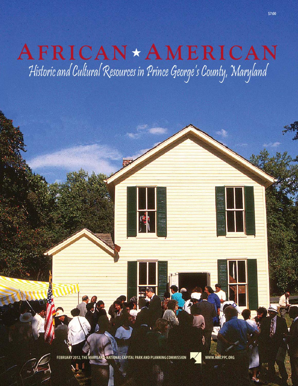 African American Historic And Cultural Resources In Prince Georges