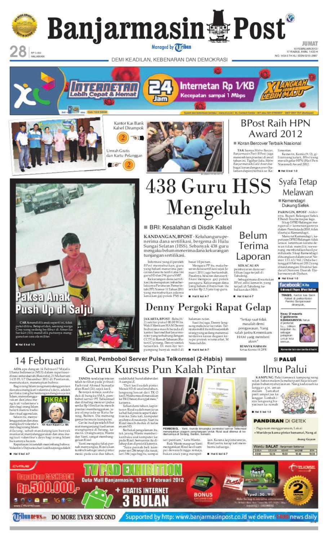 Banjarmasin Post Edisi Jumat 10 Februari 2012 By Produk Ukm Bumn Tekiro Tang Buaya Issuu