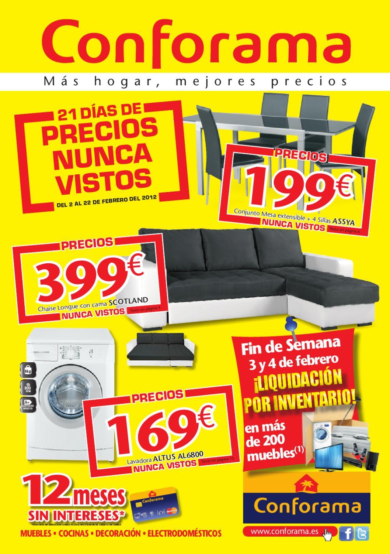 Conforama Folleto Hogar 22 Febrero 2012 By Misfolletos Com  # Muebles Liquidacion