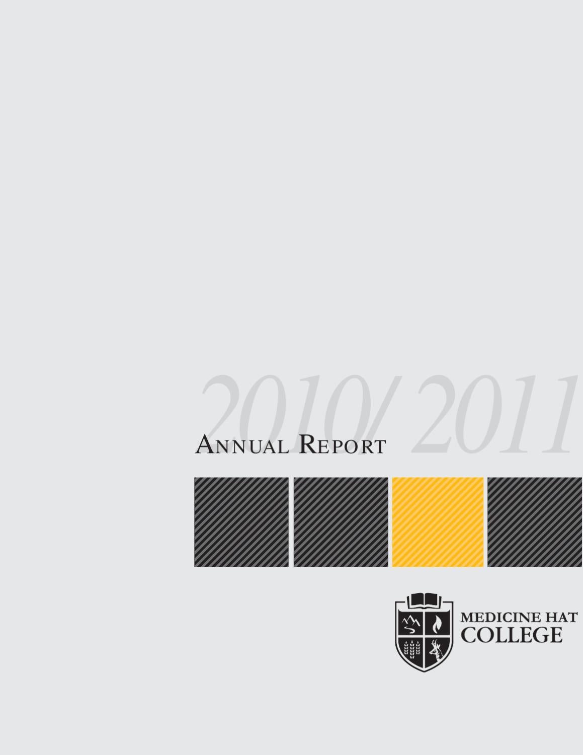 mhc annual report 201011 by medicine hat college issuu