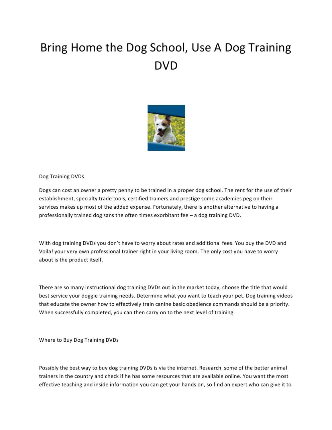 Bring Home the Dog School by Ville Nor Villanueva - issuu
