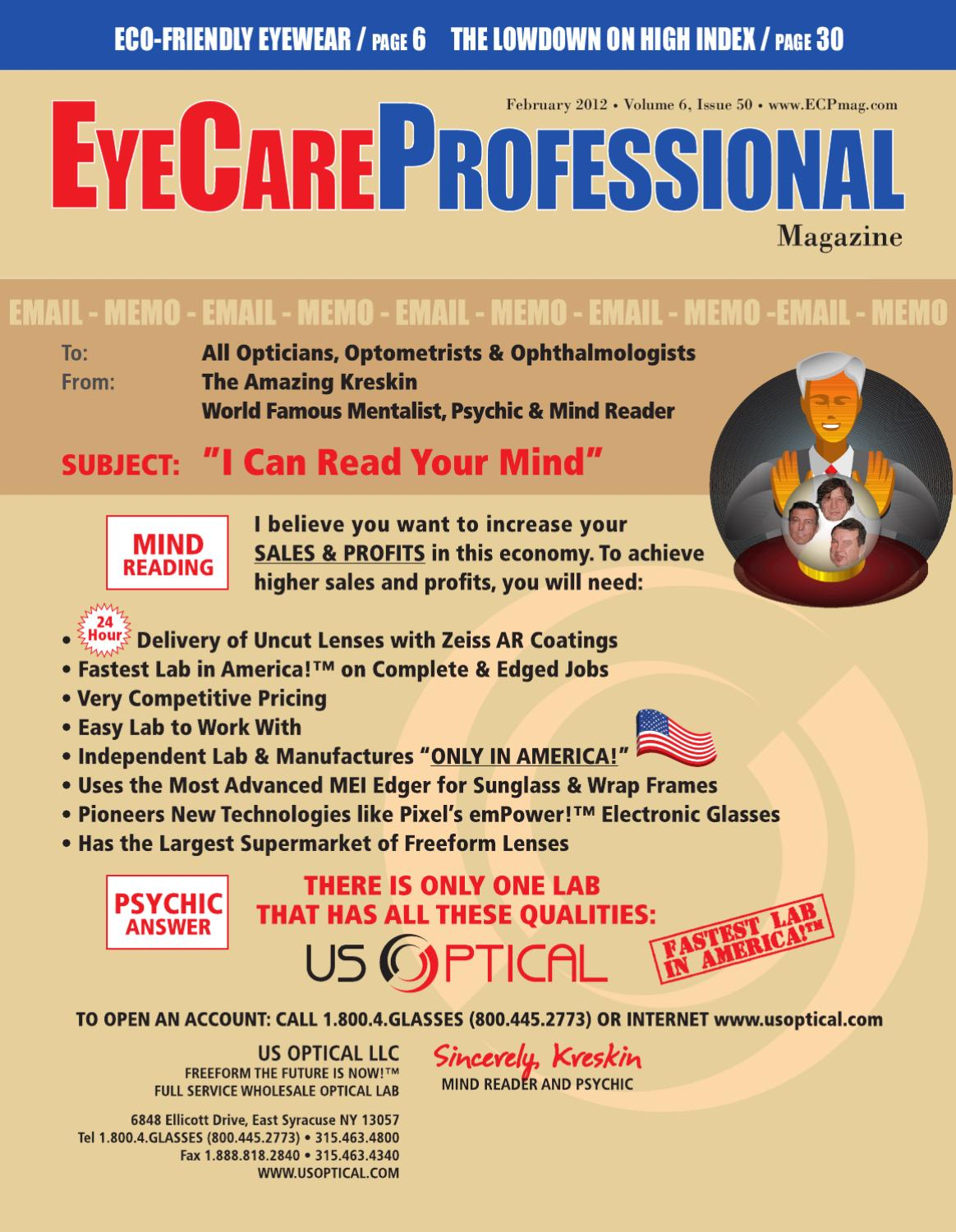 5b0bdc2a25 EyeCare Professional Magazine February 2012 Issue by ECP Magazine - issuu
