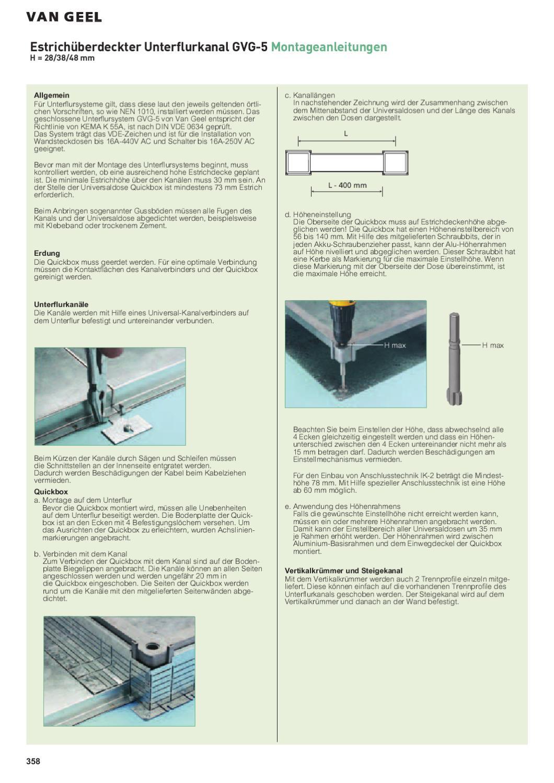 VanGeel Kabelverlegetechnik 2011_2012 by Legrand Austria GmbH - issuu
