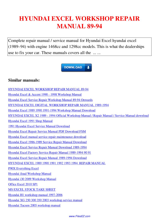 sports Array - hyundai excel workshop repair manual 89 94 by nana hong  issuu rh issuu ...