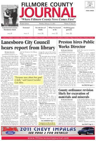 Fillmore County Journal 21312 By Jason Sethre Issuu