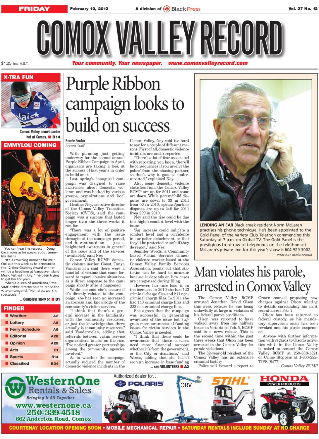 Friday, February 10 2012 Comox Valley Record by Comox Valley Record  Newspaper - issuu