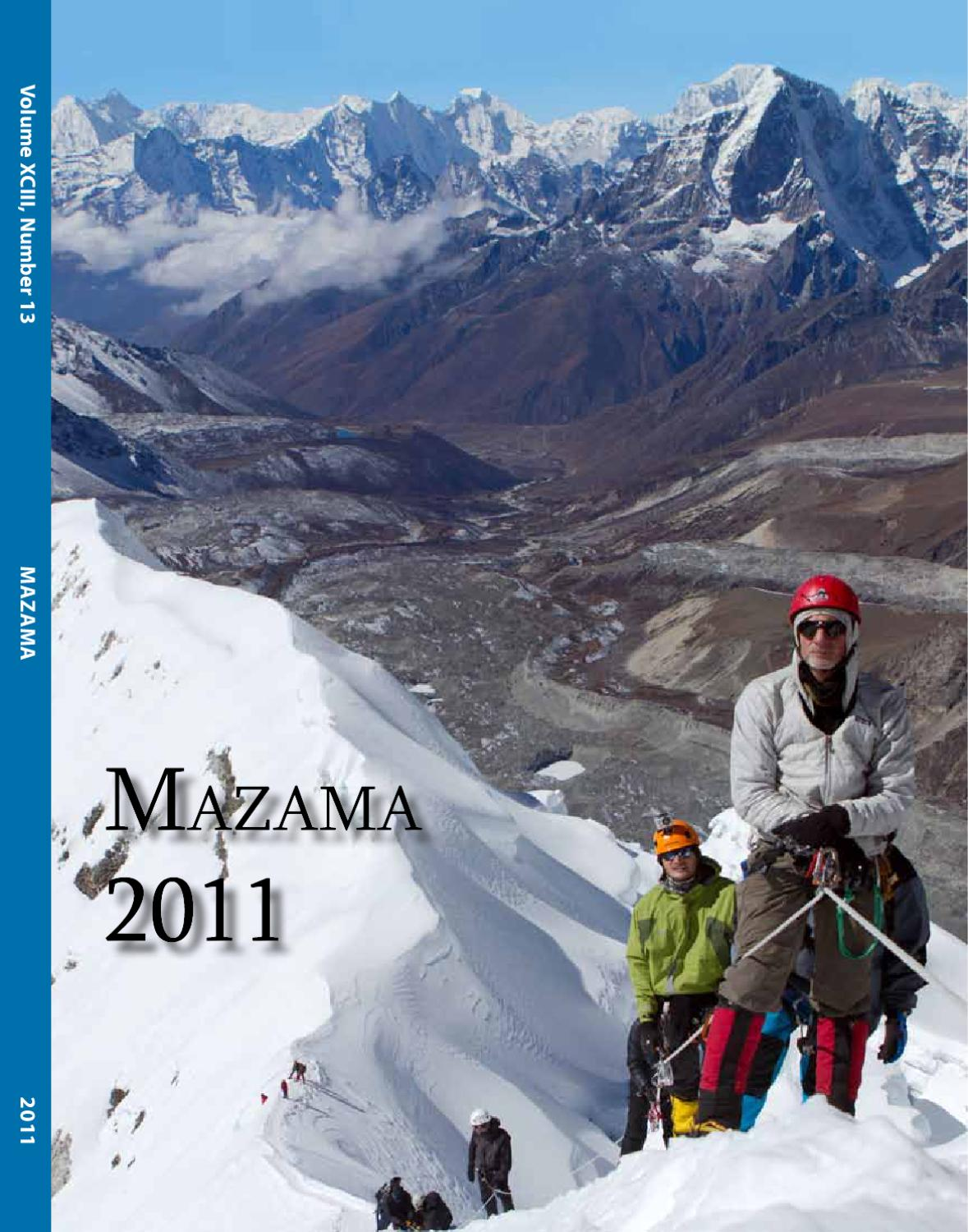 Mazama Annual By Mazamas