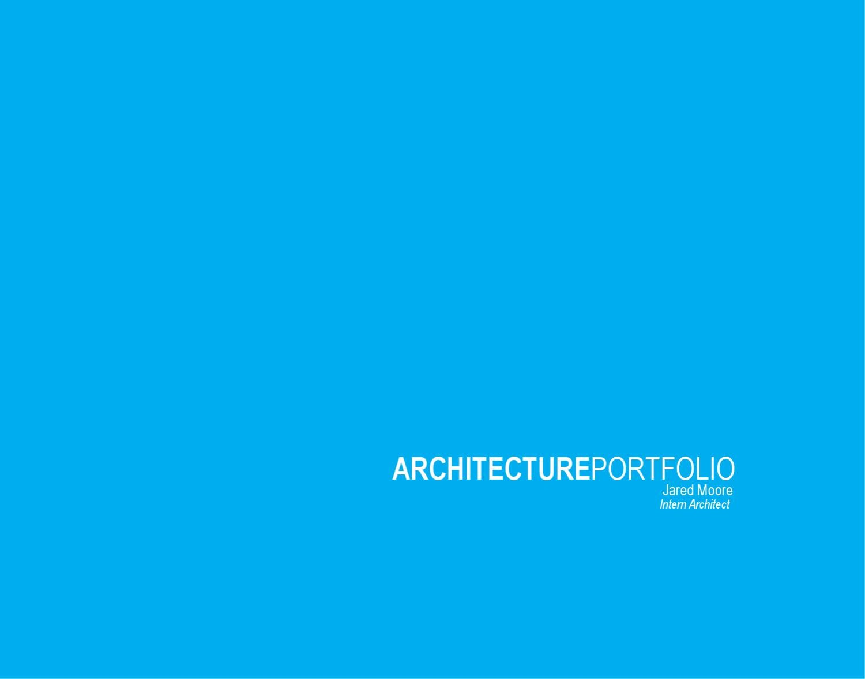how to build an architecture portfolio