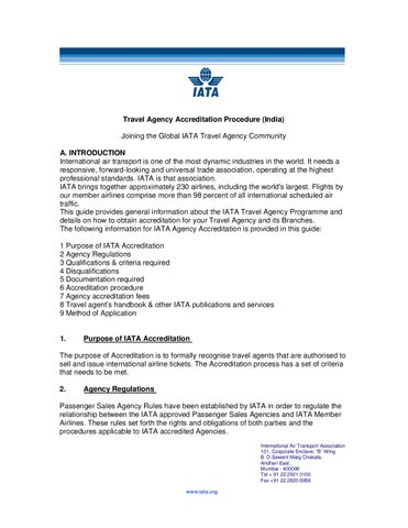 Iata Travel Agent Application Guide India