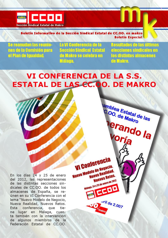 Makro Metro Group España Boletín Informativo MK by Michael Nord - issuu