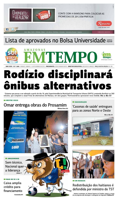43eaa008d5 EM TEMPO - 11 de fevereiro de 2012 by Amazonas Em Tempo - issuu