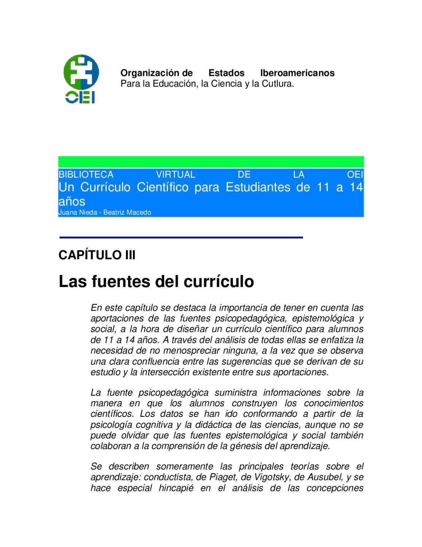 las fuentes del currículo según la OEI by Sarahí Gaxiola - issuu