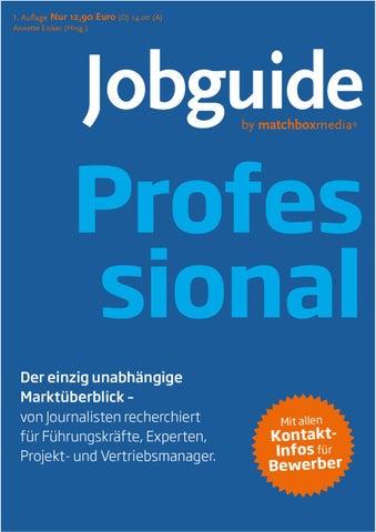 Jobguide Professional by Matchboxmedia - issuu