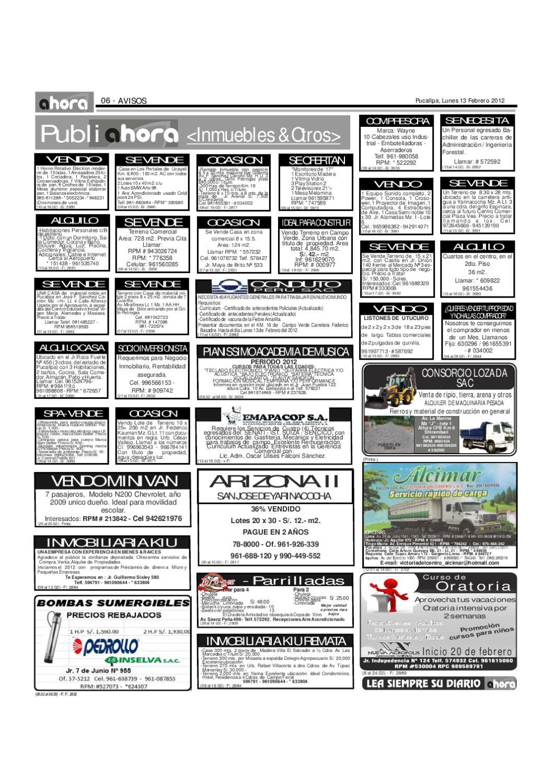 Diario Ahora Ucayali by Jonatan Arias - issuu
