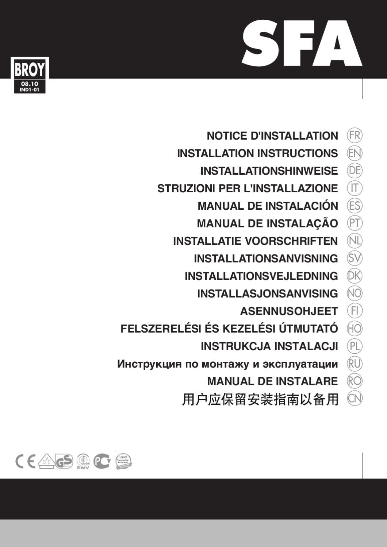 Sanipro Sfa Instrukcja Instalacji E Millennium Eu By Cdil