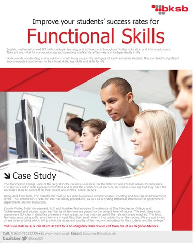 Improve your students' success rates forFunctional Skills ...
