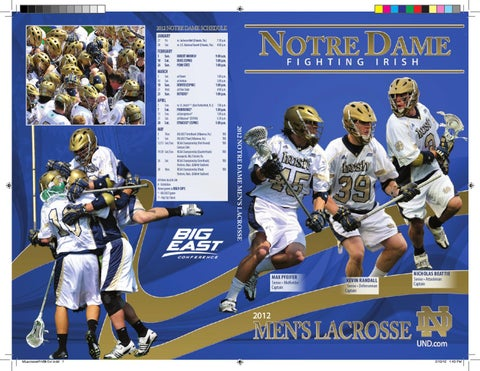 047831b73 2012 Notre Dame Men s Lacrosse Media Guide by Chris Masters - issuu