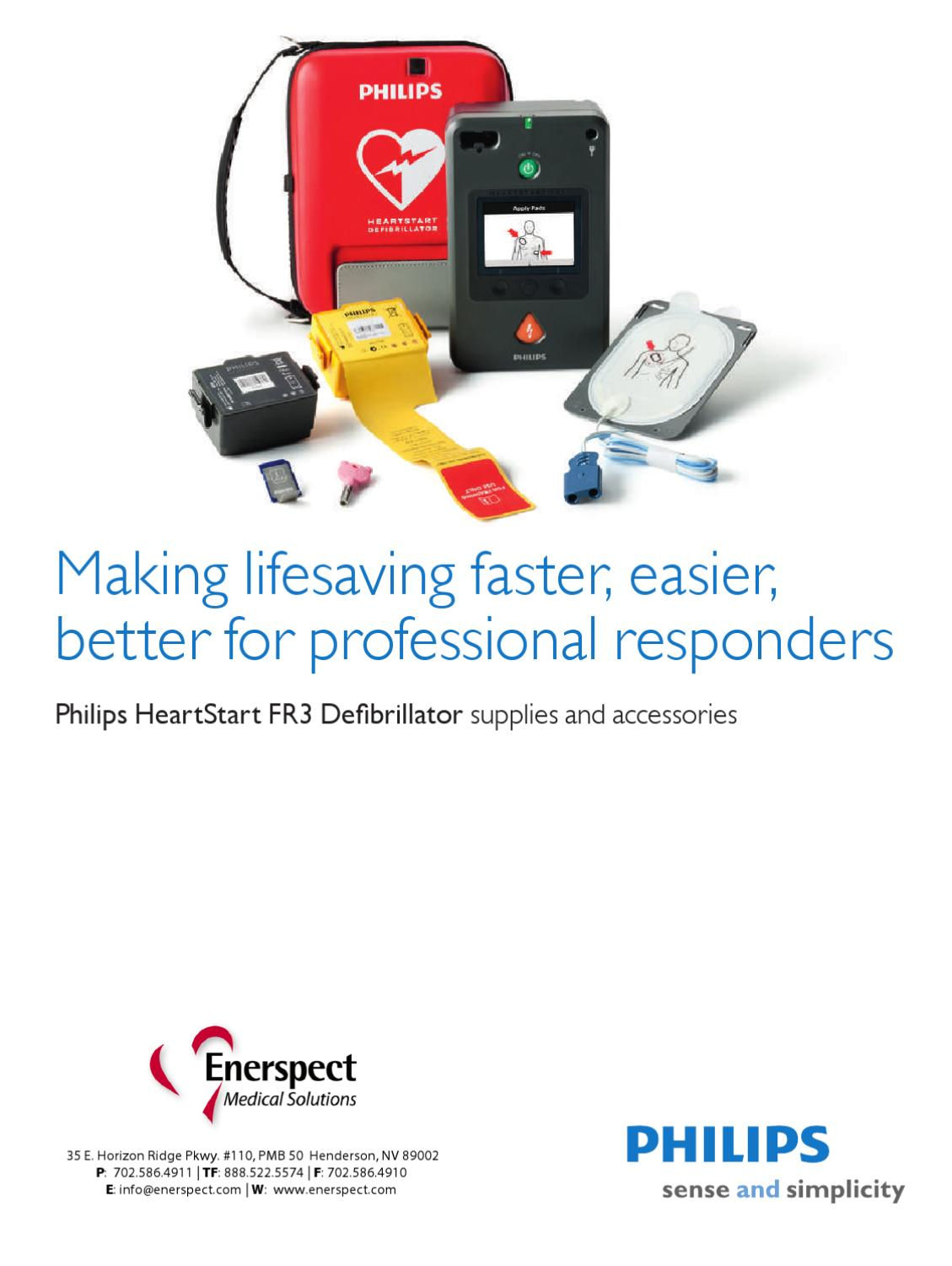 Philips FR3 AED Supplies & Accessories by Enerspect Medical