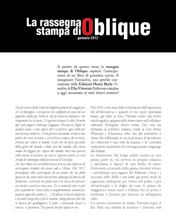 Rassegna stampa gennaio 2012 by Oblique Studio - issuu 29cefba9178
