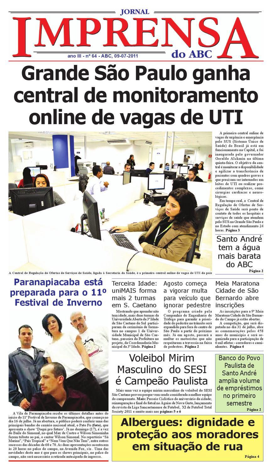 Jornal Imprensa do ABC - Edição 64 by Jornal Imprensa ABC - issuu f90526301480a