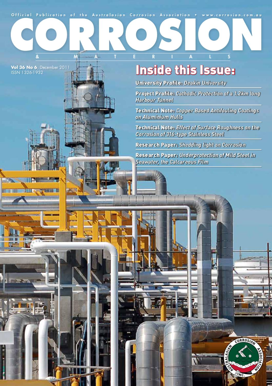 Cm December 2011 Private By Australasian Corrosion Association Issuu Far West Cathodic Rectifier Wiring Diagram
