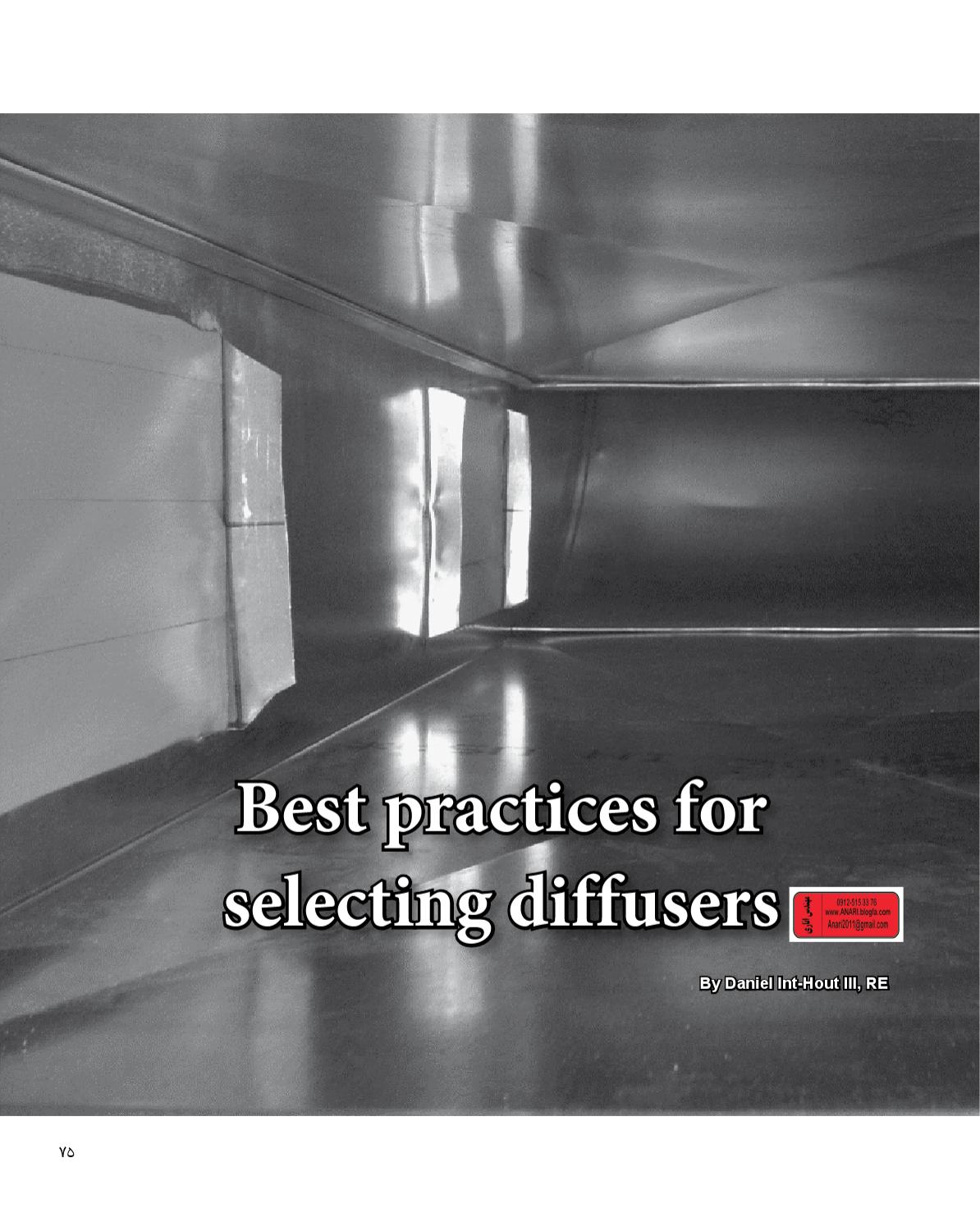 Best practices for selecting diffusers by navid anari issuu for Ashrae 62 1 table 6 1