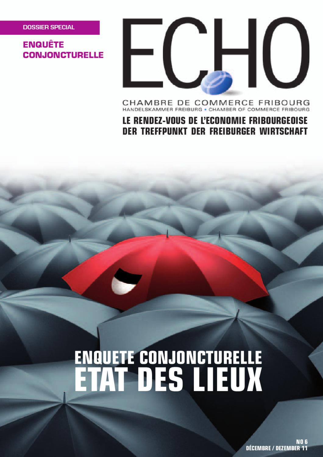 Echo magazine d cembre 2011 by chambre de commerce et d for Chambre de commerce fribourg