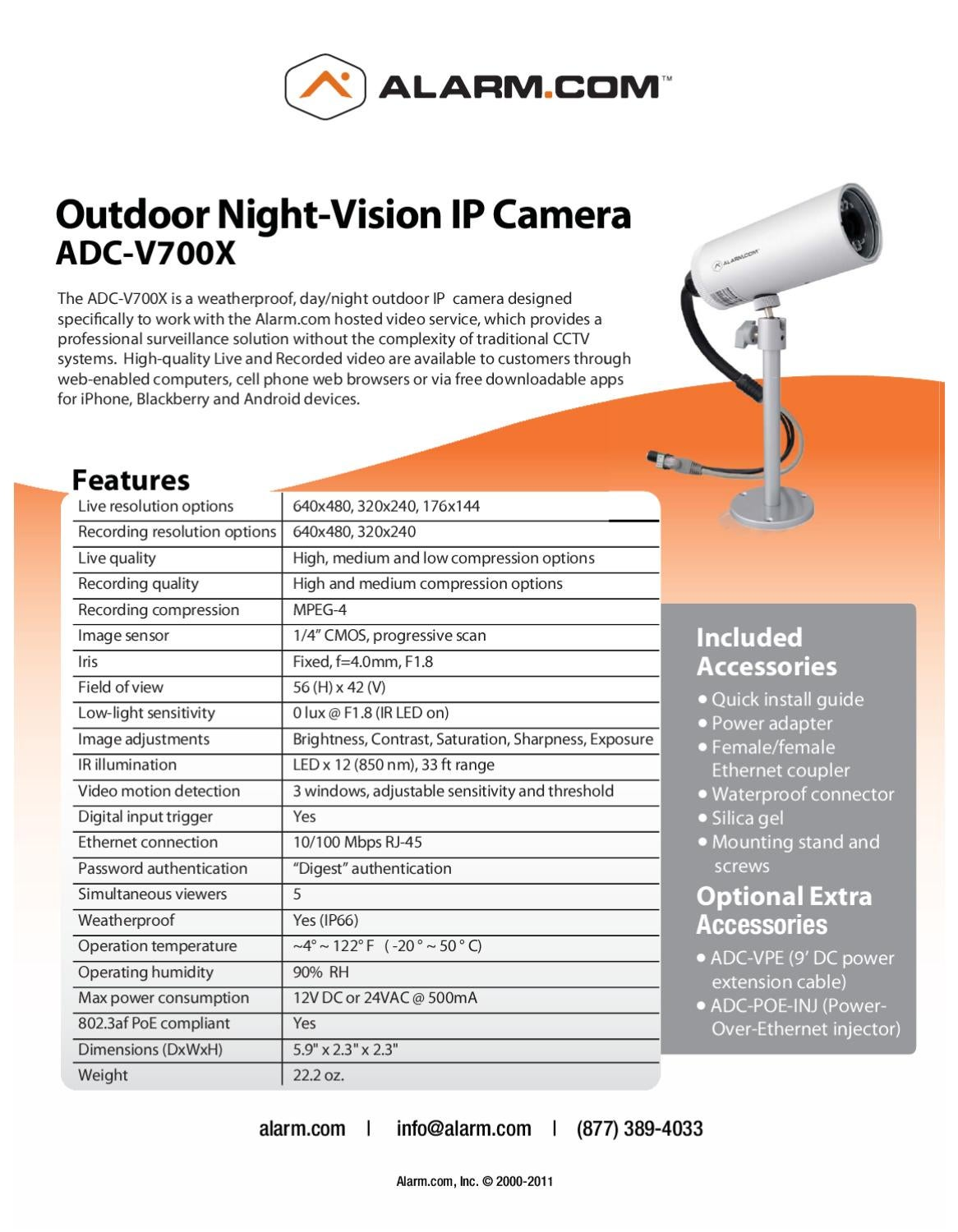 ADC-Fixed-Outdoor-IR-Camera_DataSheet by The Good Life - issuu