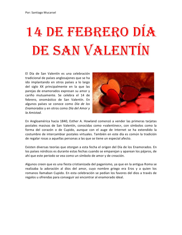 152c47644e39 14 de febrero dia de San Valentín by santy mucarsel - issuu