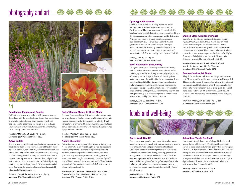 Spring 2012 Garden Calendar By Desert Botanical Garden Issuu