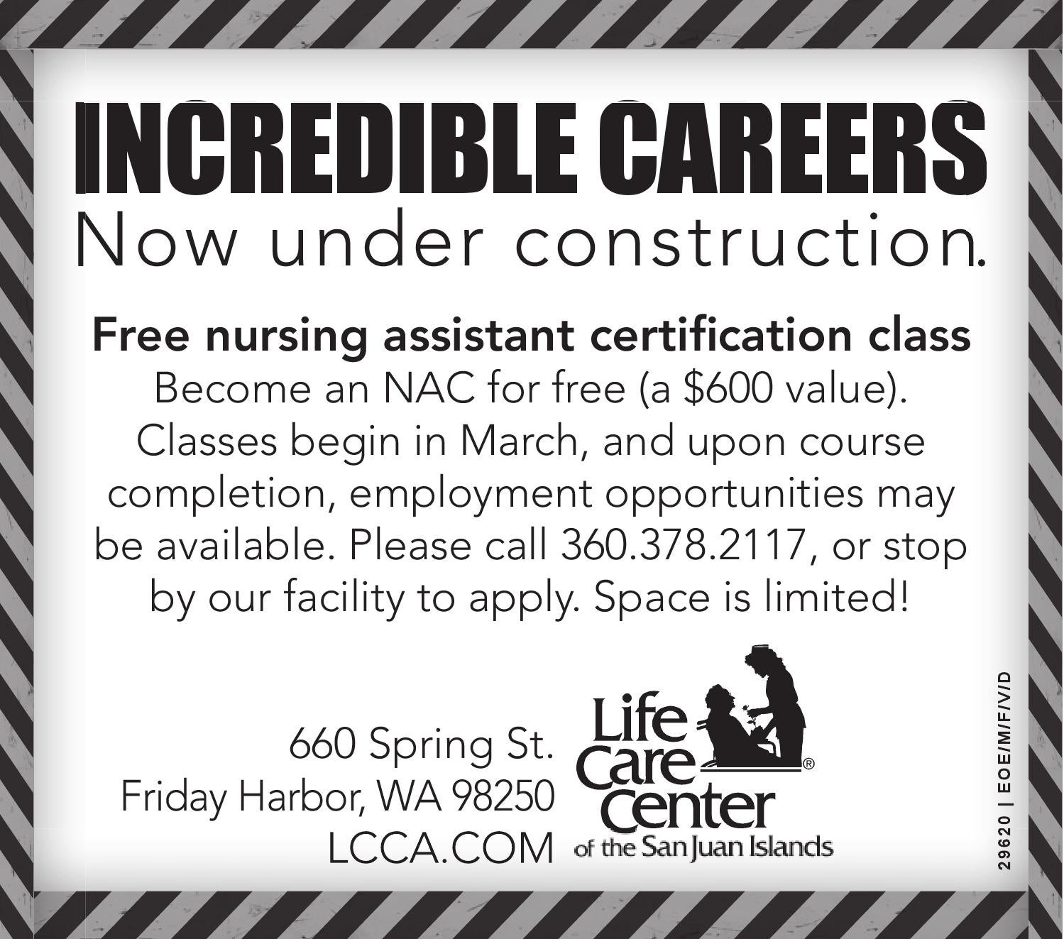 Retail Advertising Free Nursing Assistant Certification Class By