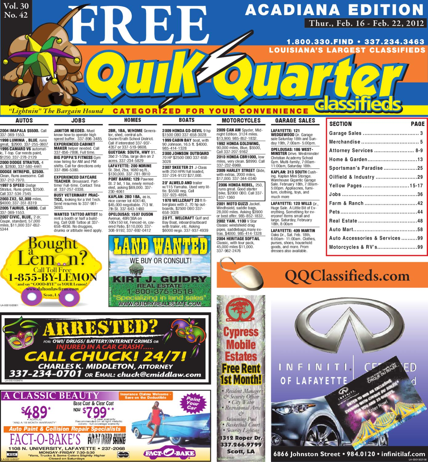 Qq Acadiana By Part Of The Usa Today Network Issuu Sunpro Tach Wiring Diagram 4 10 From 83 Votes