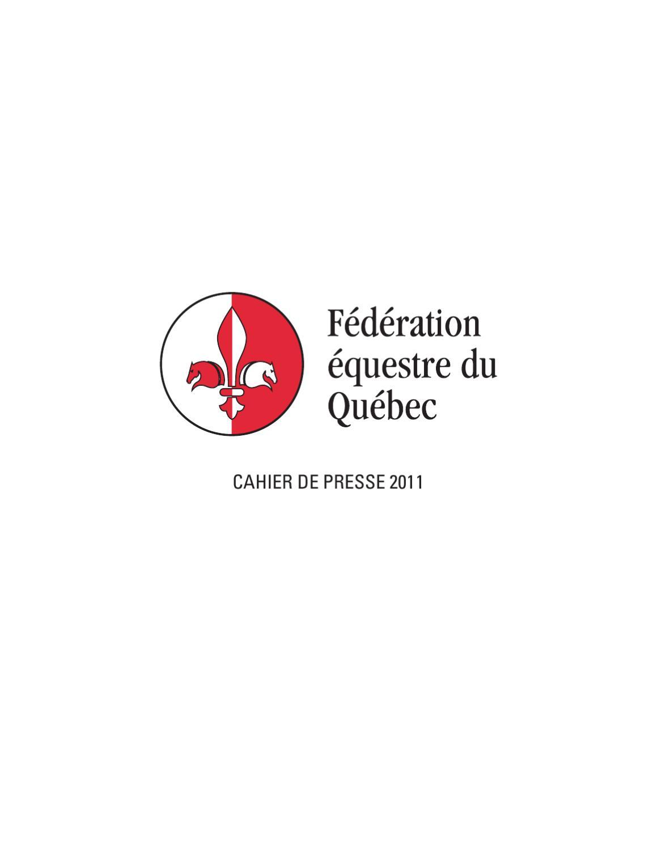 Cahier de presse Fédération équestre du Québec by Fédération équestre du  Québec - issuu 2f454d871c47