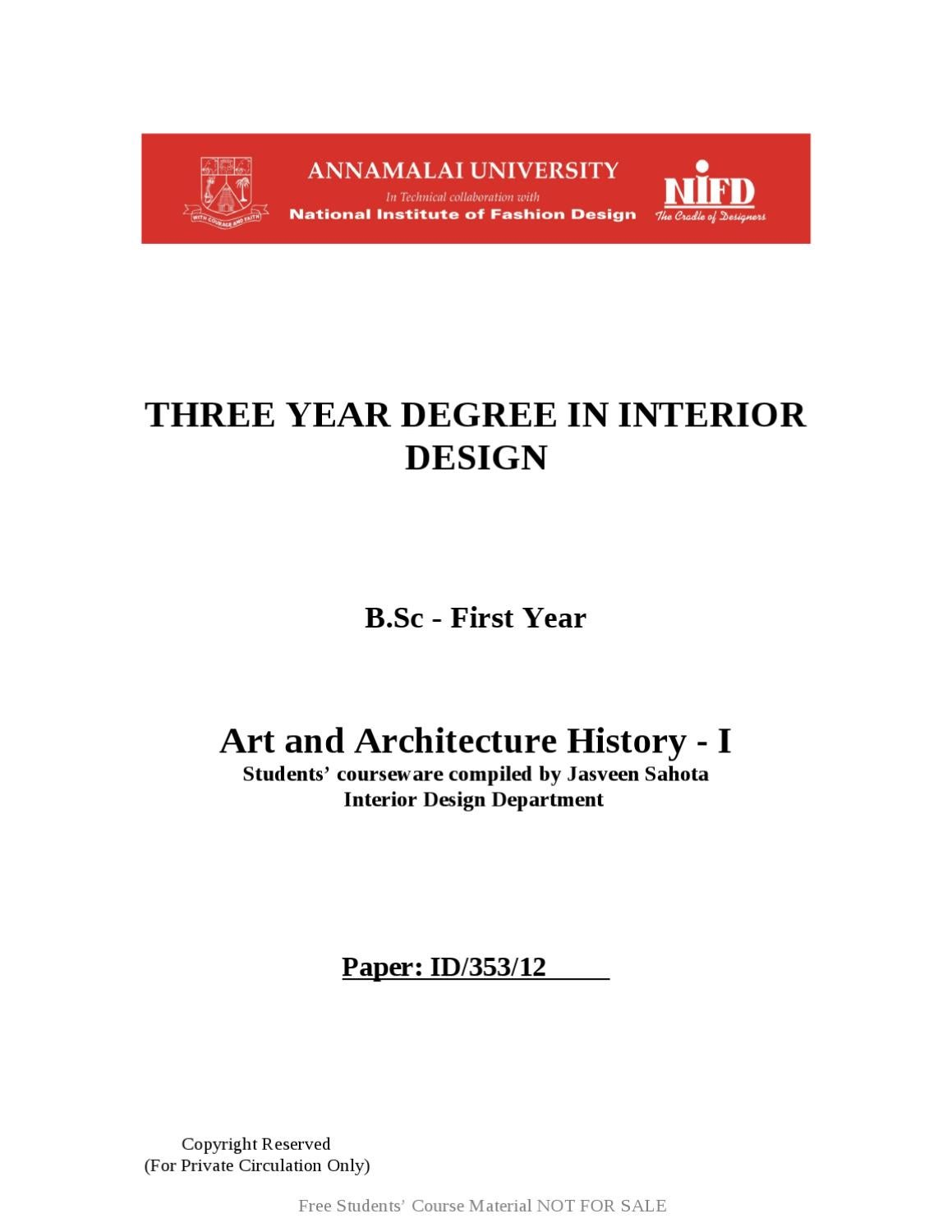History Of Interior Design By Jasveen Sahota
