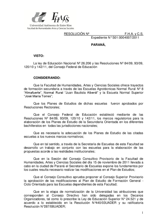 Plan de Estudios 2012 by Joaquin Rizer - issuu