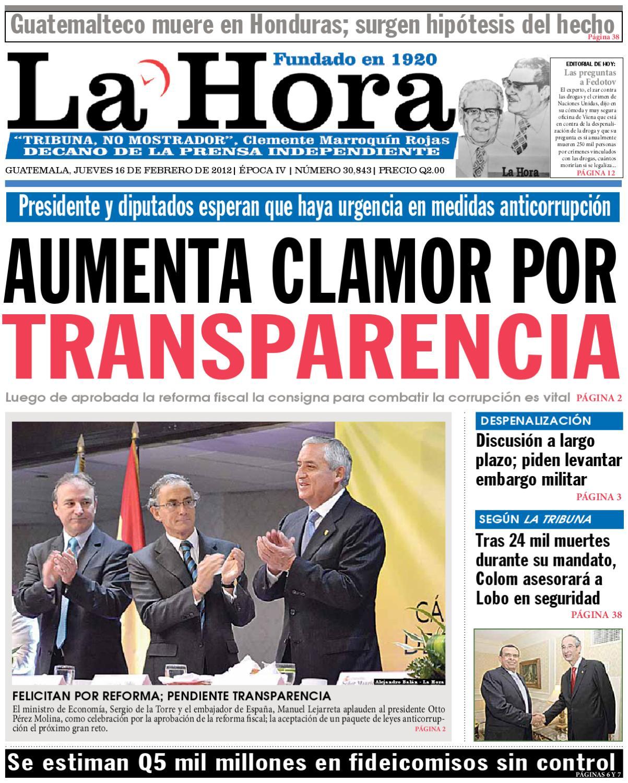 Diario La Hora 16-02-2012 by La Hora - issuu ecad8e4bac5c2