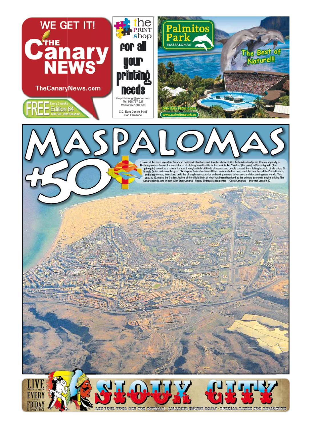 Edition 64 Maspalomas 50 By The Canary News Views Sunshine