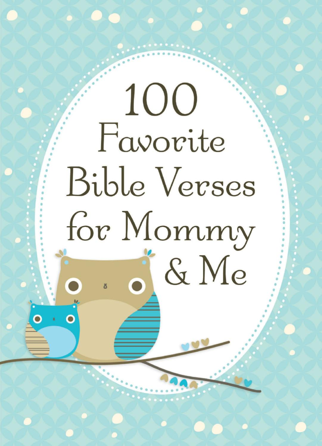 100 Favorite Bible Verses for Mommy and Me by Thomas Nelson