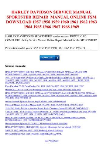 Harley davidson service manual sportster repair manual fsm 1957 1958 harley davidson service manual sportster repair manual online fsm download 1957 1958 1959 1960 1961 1962 1963 1964 1965 1966 1967 1968 1969 harley davidson fandeluxe Choice Image