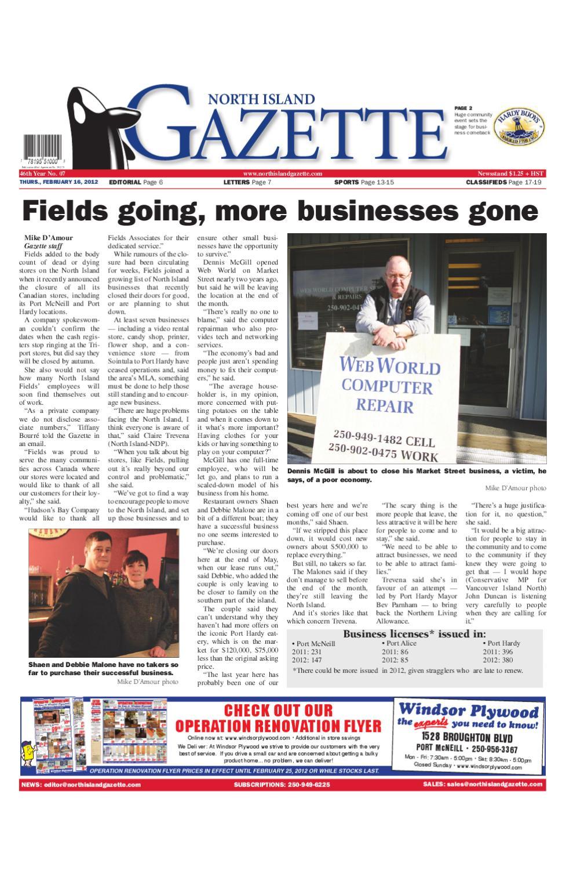 February 16, 2012 by North Island Gazette - issuu