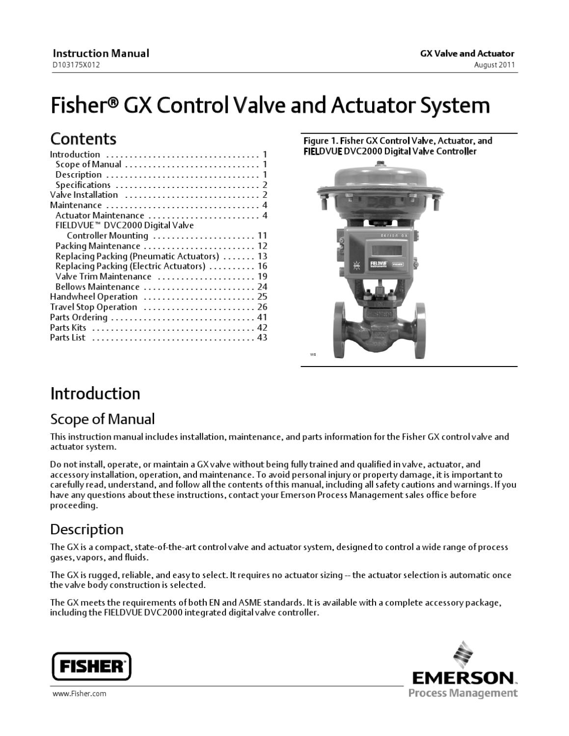 GX Valve Instruction Manual Aug 2011 by RMC Process Controls