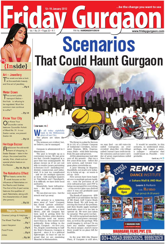 Friday Gurgaon, January 13-19, 2011 by Friday Gurgaon - issuu