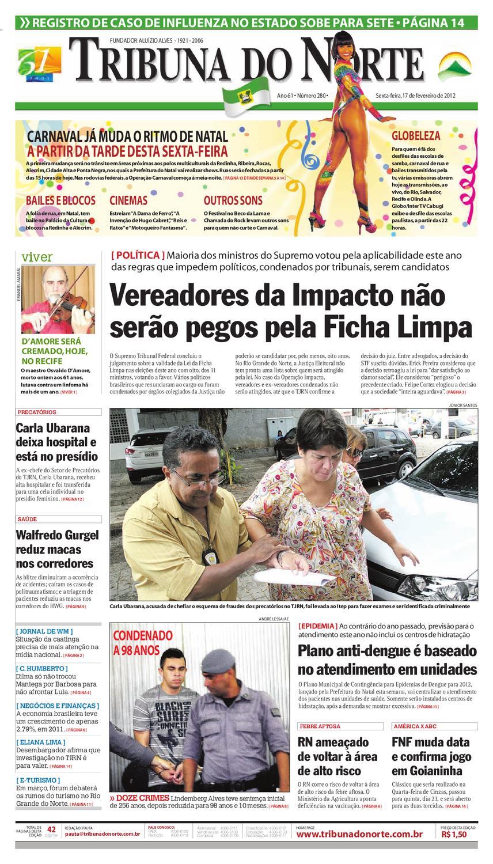 Tribuna do Norte - 17 02 2012 by Empresa Jornalística Tribuna do Norte Ltda  - issuu 8dea5701a6