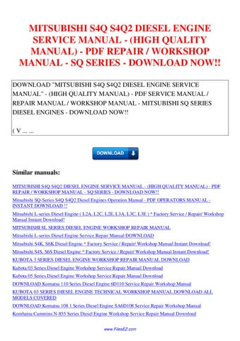 download komatsu 95 3 series engine s4d95le 3 4d95le 3 saa4d95le 3 service repair shop manual