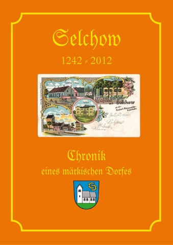 Chronik Selchow 1242 2012 By Elro Verlag Gmbh Issuu