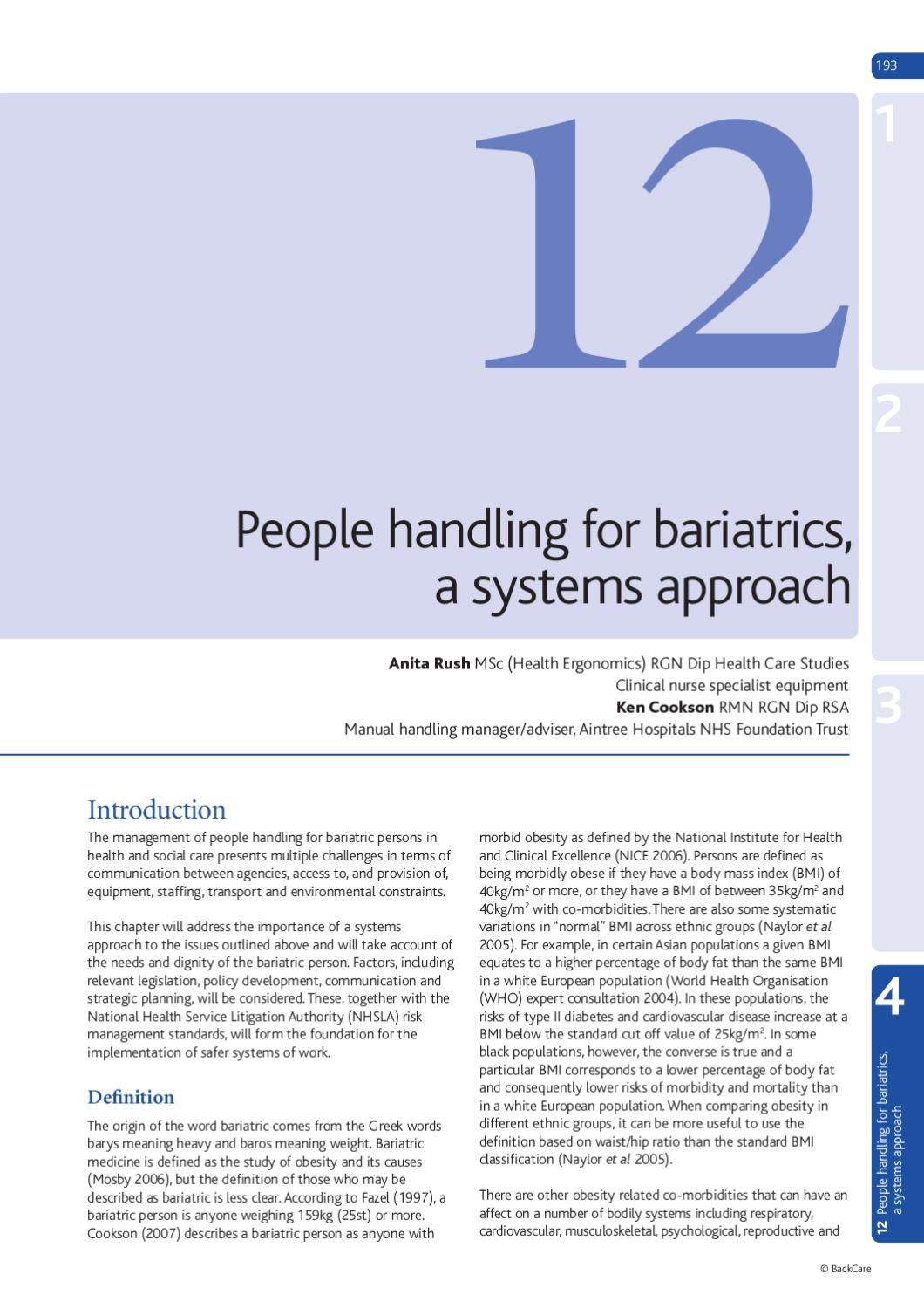 Handling of People, 6th Edition Preview by BackCare - issuu