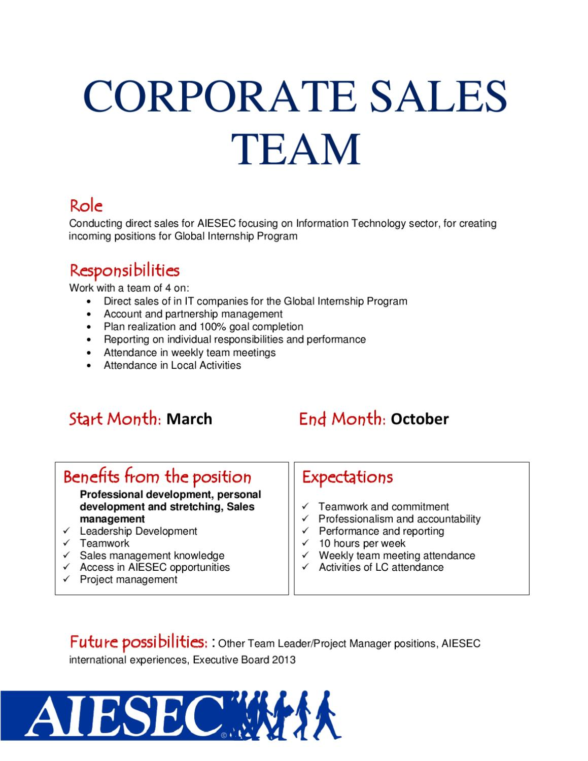 aiesec athens - it sales team booklet by aiesec athens