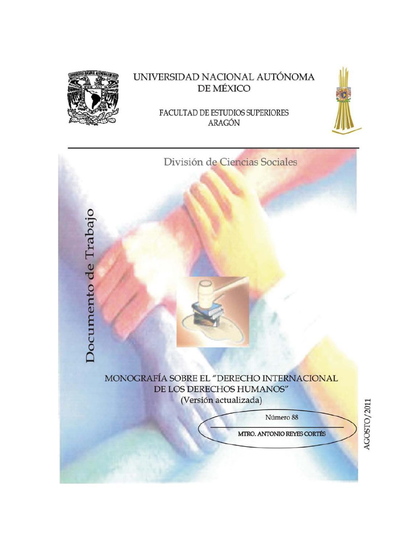 Monografia Sobre El Derecho Internacional De Los Derechos